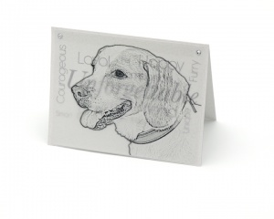 Beagle blank all-occasion pet notecard with envelope