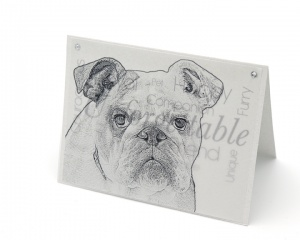 bulldog blank all-occasion pet notecard with envelope