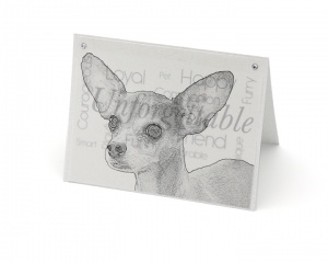 Chihuahua blank all-occasion pet notecard with envelope