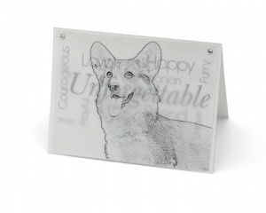Corgi blank all-occasion pet notecard with envelope