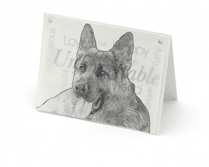 German Shepherd blank all-occasion pet notecard with envelope