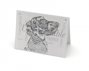 Great Dane blank all-occasion pet notecard with envelope