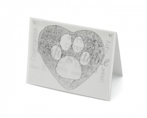 Paw in Heart blank all-occasion pet notecard with envelope