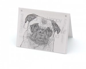 Pug blank all-occasion pet notecard with envelope