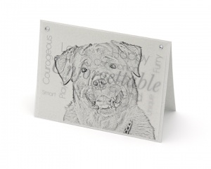 Rottweiler blank all-occasion pet notecard with envelope